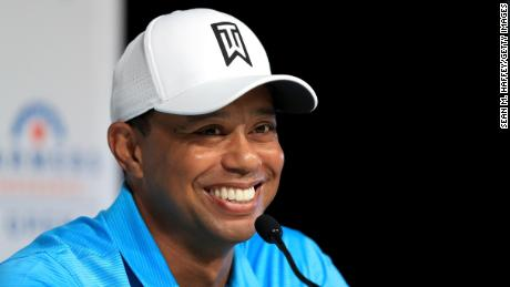 Tiger Woods was in a relaxed mood at his pre-tournament news conference at Torrey Pines.