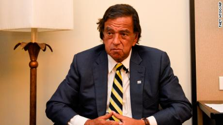 Former New Mexico Gov. Bill Richardson said he has resigned from an advisory panel trying to tackle the massive Rohingya refugee crisis, Wednesday, January 24, 2018, in Yangon, Myanmar.