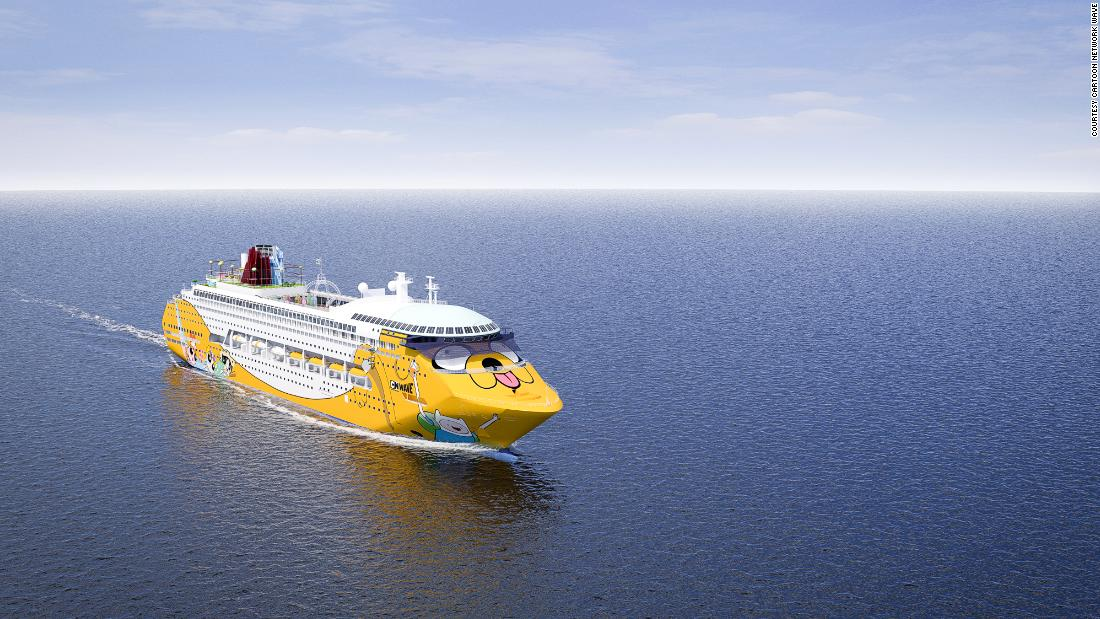 <strong>Cruise liner fun:</strong> Cartoon Network has launched a colorful, fun cruise liner. The ship makes its maiden passenger voyage from Singapore in late 2018. <em>Pictured here: Artist impression of Cartoon Network Wave. All illustrations are subject to change without prior notice.</em>
