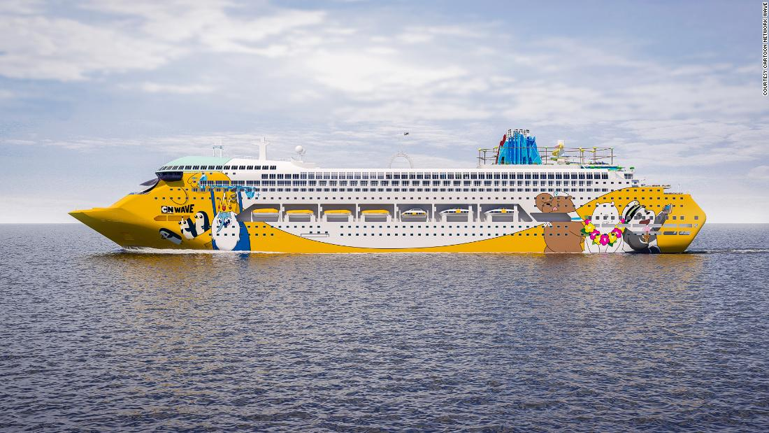 <strong>The Tooniverse:</strong> The ship will feature 800 cartoon-themed cabins. In total there will be 11 decks for entertainment and excitement. The cruise is the product of a partnership between Oceanic Group and Turner, the owner of Cartoon Network and CNN. <em>Pictured here: Artist impression of Cartoon Network Wave. All illustrations are subject to change without prior notice.</em>