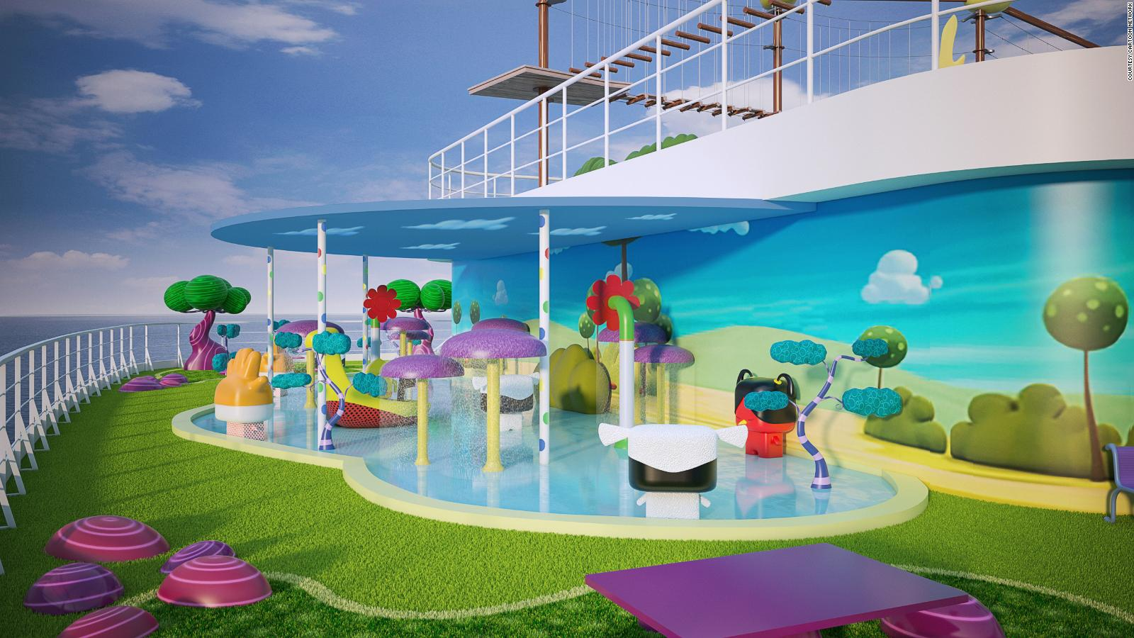 Cartoon Network Reveals Colorful New Cruise Ship Cnn Travel