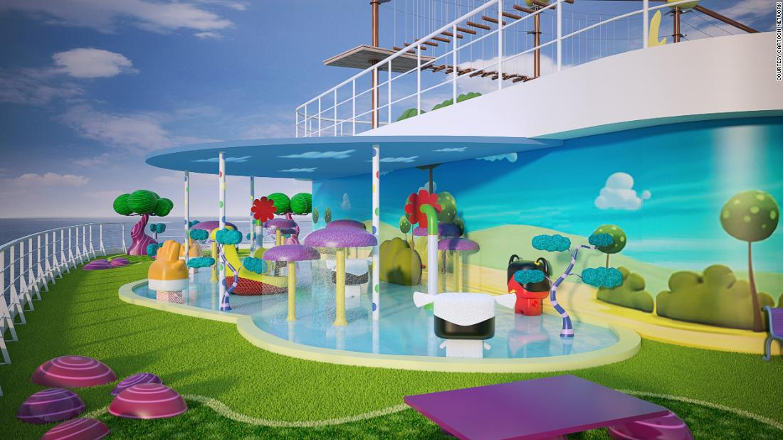 <strong>Wonderful destinations: </strong>Cartoon Network Wave will sail to 13 fantastic destinations across the Asia Pacific Region, including Singapore, Malaysia and China. <em>Pictured here: Artist impression of Toonix Pool on Cartoon Network Wave. All illustrations are subject to change without prior notice.</em>