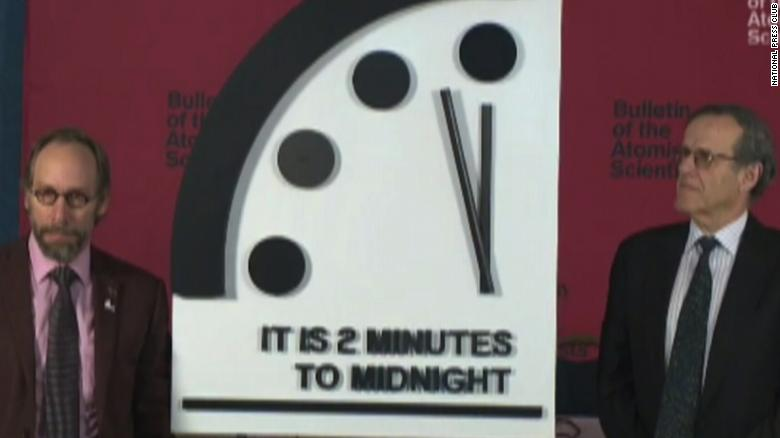 Doomsday Clock Ticks Ahead World Is Now 2 Minutes To Apocalyptic