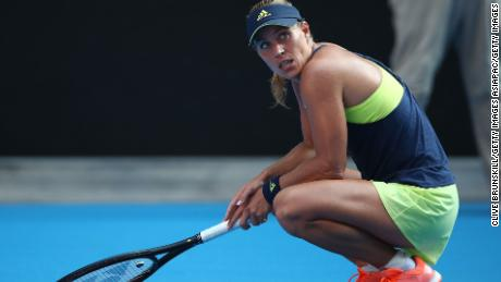 Angelique Kerber was left floored by some extended rallies.