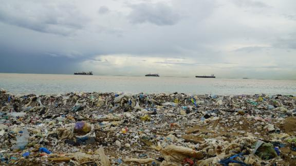 Images of Lebanon's trash-infested beaches have embarrassed the country's leaders