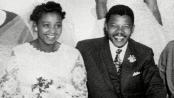"Winnie Madikizela and <a href=""http://www.cnn.com/2013/03/28/africa/gallery/nelson-mandela/index.html"" target=""_blank"">Nelson Mandela</a> married in South Africa in 1958."