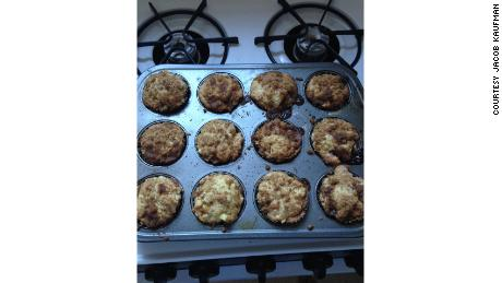 Kaufman's first batch of muffins were apple cinnamon.