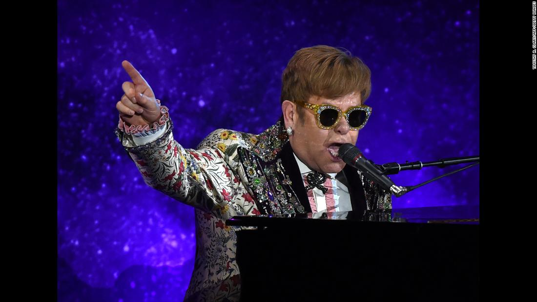 "Sir Elton John performs in New York on Wednesday, January 24. <a href=""http://www.cnn.com/2018/01/24/entertainment/elton-john-retiring-final-tour/index.html"" target=""_blank"">The music icon announced</a> at a press event that his next world tour will be his last. The three-year tour will start in September, John told CNN's Anderson Cooper in a sit-down chat."