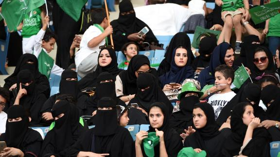 Gender mixing is becoming more common. Some Saudi stadiums have recently opened their doors  to women.