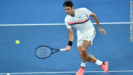 Roger Federer hit 24 winners Friday.