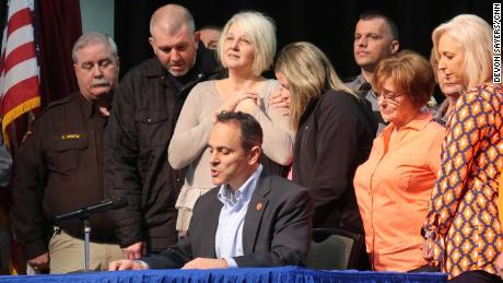 Ky. Gov. Matt Bevin signed a declaration making Sunday a Day of Prayer for Marshall County.