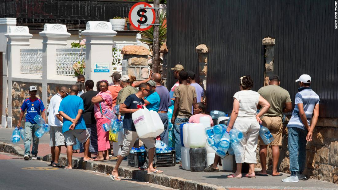 Even with the predicament they find themselves in, residents haven't dropped their water use significantly, Cape Town Mayor Patricia de Lille said. Here, the scene in St. James.