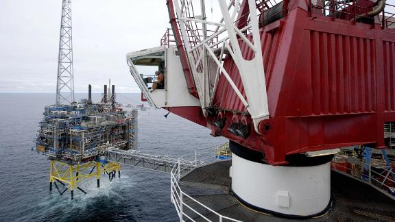 Sleipner gas platform, 155 miles off the coast of Norway. Its carbon storage facility captures and injects carbon dioxide deep under the North Sea into a sandstone reservoir. StatoilHydro, who operate the rig, has sequestered 16 million metric tons of CO2 since 1996, say the company.