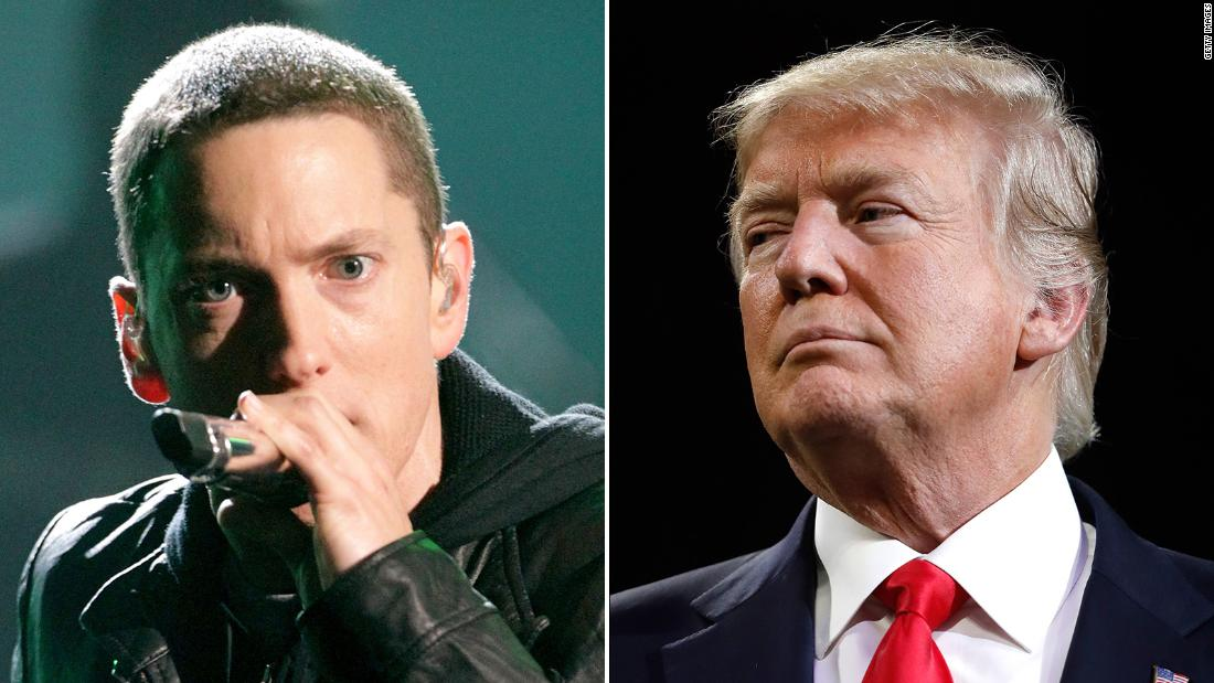 Eminem is willing to lose fans over his trump criticism cnnpolitics stopboris Image collections