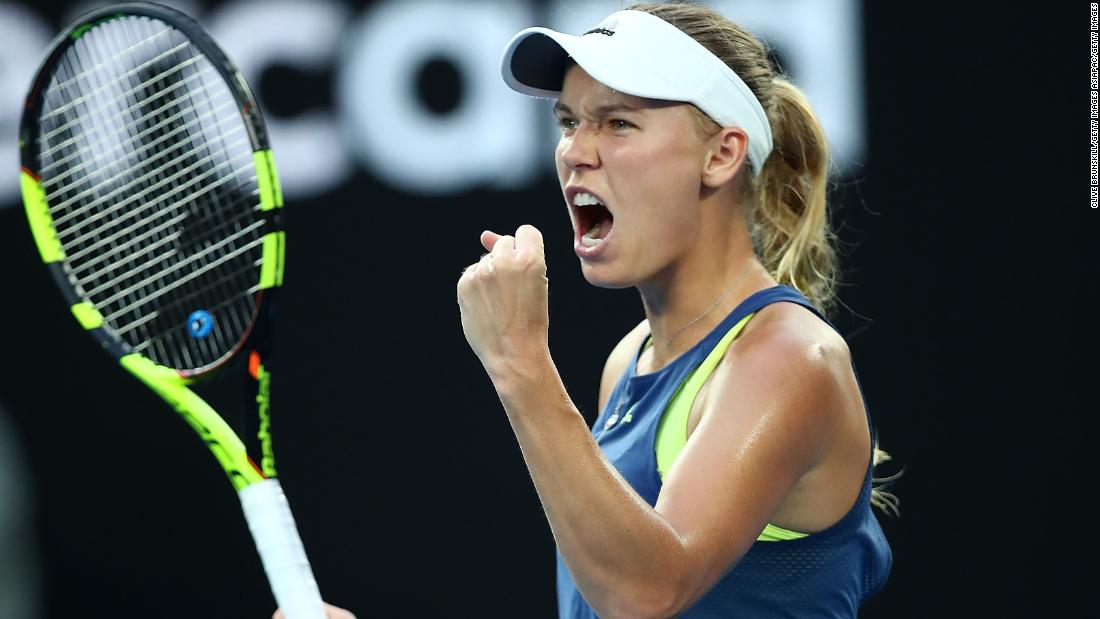 Wozniacki gained the advantage by winning the tiebreak though.