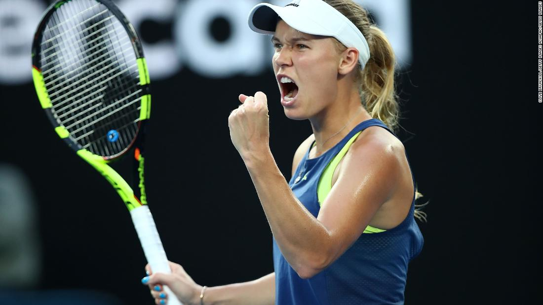 Wozniacki ends grand slam drought