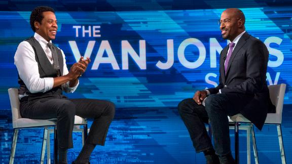 "CNN host Van Jones interviews Shawn ""Jay-Z"" Carter on the first episode of ""The Van Jones Show"" on Saturday, Jan. 27, 2018 in New York, NY.