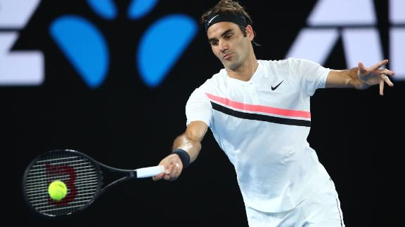 Federer was in form early on against Marin Cilic, breezing in the first set.