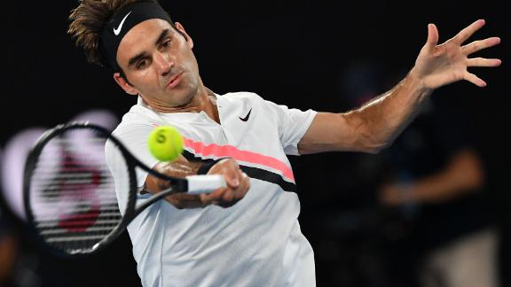 The third set resembled the first. Federer coasted on serve and earned the lone break.