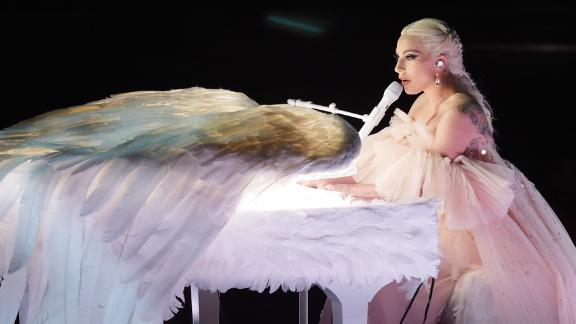 Lady Gaga performs during the show