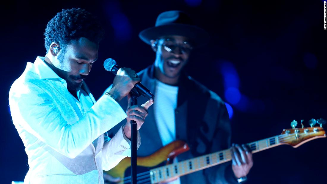 "Childish Gambino sings ""Terrified."""