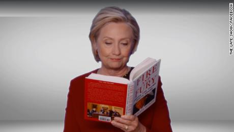 Clinton reads from 'Fire and Fury' at Grammys