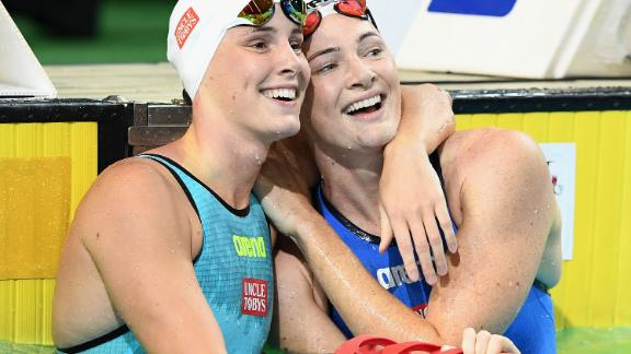 Just two years apart, the siblings boast a tight bond despite being freestyle rivals in the pool.