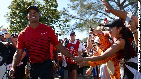 "The crowds were significant at Torrey Pines, with Woods acknowledging he ""hadn't had people yelling like that in a while."""