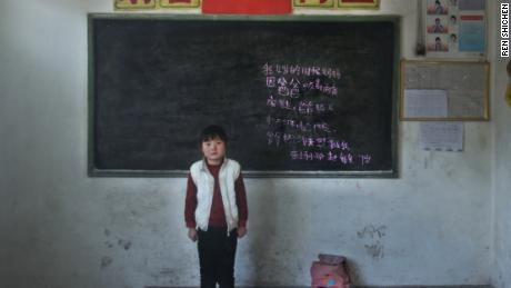 """Mommy left home because daddy takes drugs. Daddy is working outside now. But I don't know where he is. Grandparents take care of me. Zhaomin, 7 years old, Donghe elementary school."