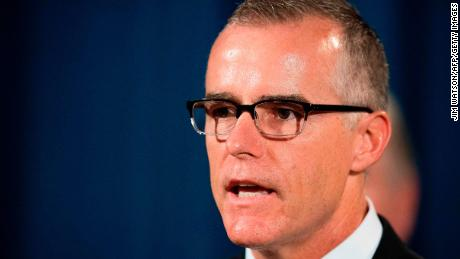 Acting Director of the Federal Bureau of Investigation (FBI) Andrew McCabe speaks during a press conference at the US Department of Justice in Washington, DC, on July 13, 2017.