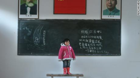 "Gou Lingyu, Gaomiao Elementary School, Balipu County asks:  ""Mommy, Where have you gone? Mommy left home when I was six. Daddy cooks for me and does farm work. Mommy, are you coming back?"""
