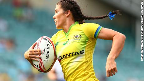 Charlotte Caslick has scored 10 tries this season.