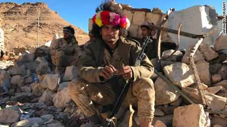 Abu Aseel was married three days before this picture was taken. He went back to Yemen's frontlines shortly after the wedding and can be seen here holding Qat, a herbal stimulant, and a national past-time.
