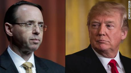 Rosenstein told Trump he's not a target in Cohen investigation