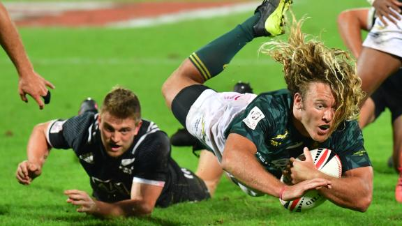 Last year's world champion South Africa started this season as they ended the last. The Blitzboks saw off New Zealand 24-12 in the UAE to win the first piece of silverware up for grabs in the men's competition.