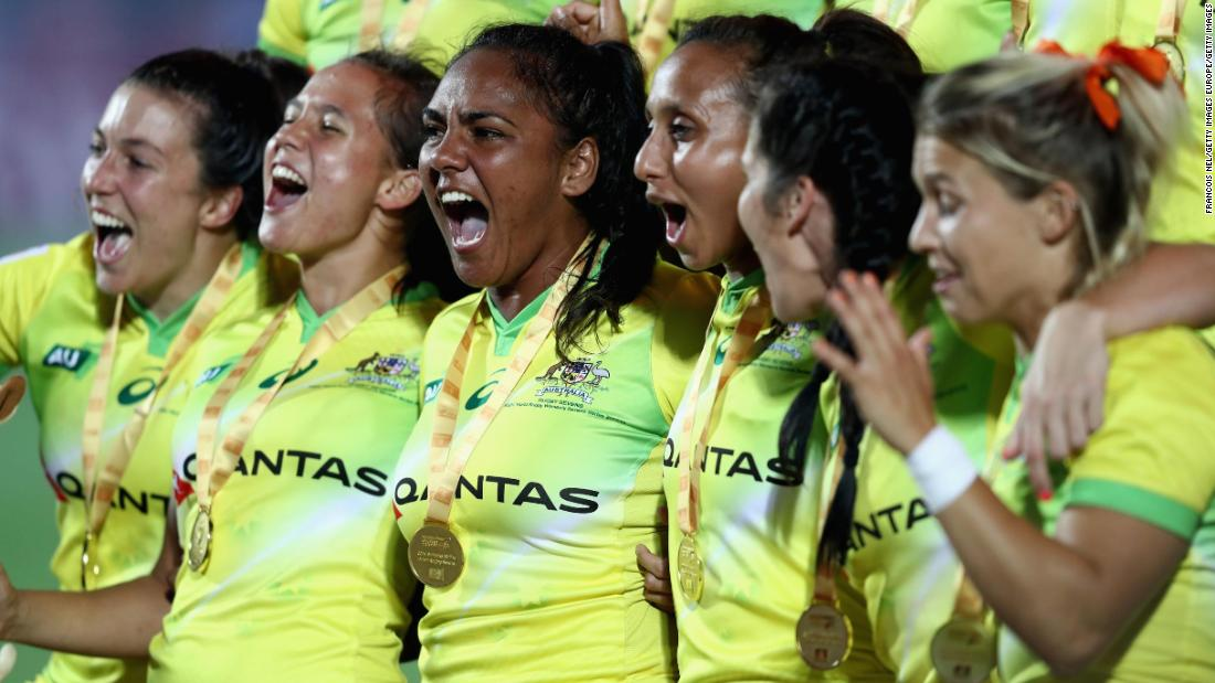 "Having finished second to New Zealand in last season's overall standings, Australia's women got their campaign off to winning ways by <a href=""http://edition.cnn.com/2017/12/04/sport/rugby-sevens-world-series-dubai-round-one-south-africa/index.html"">overwhelming USA 34-0</a> in the opening tournament in Dubai."