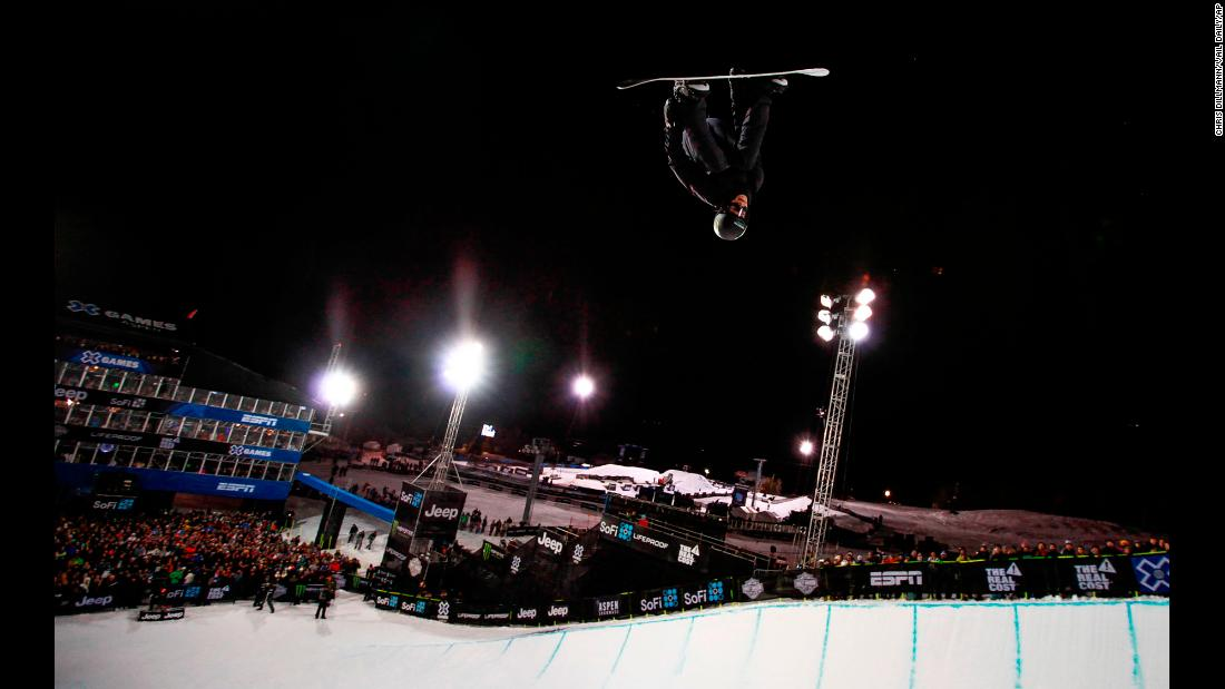 "Iouri Podladtchikov catches some air during the X Games' halfpipe final on Sunday, January 28. But the Swiss snowboarder, who won an Olympic gold medal in 2014, <a href=""https://www.washingtonpost.com/news/early-lead/wp/2018/01/29/olympic-champion-snowboarder-i-pod-suffers-broken-nose-in-scary-halfpipe-crash/"" target=""_blank"">crashed face-first during his run</a> and had to be stretchered away. He suffered a broken nose."