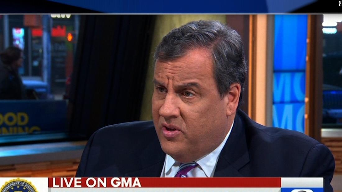 Chris Christie: 'Outrageous claim' that Trump cannot obstruct justice