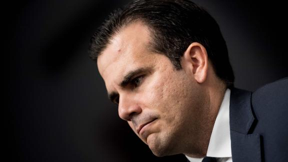 "Puerto Rico's Governor Ricardo Rossello listens during a press conference on Capitol Hill January 10, 2018 in Washington, DC. The Puerto Rico Statehood Commission held a news conference ""to demand to be seated in the United States House of Representatives and Senate as the legitimate lawmakers of America's 51st state.""  / AFP PHOTO / Brendan SmialowskiBRENDAN SMIALOWSKI/AFP/Getty Images"