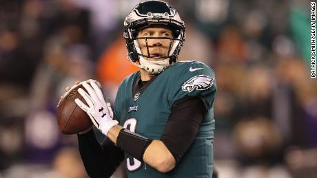 No pressure, Philadelphia Eagles backup quarterback Nick Foles.