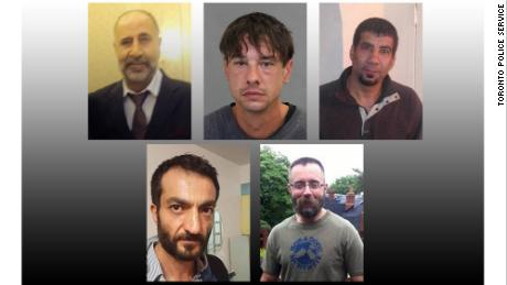 The victims: Kayhan; Lisowick; Mahmudi; Esen and Kinsman