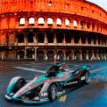 formula e new car gen2 rome colosseum photoshop