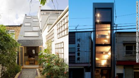 The super-skinny homes offering an attractive solution to crowded cities