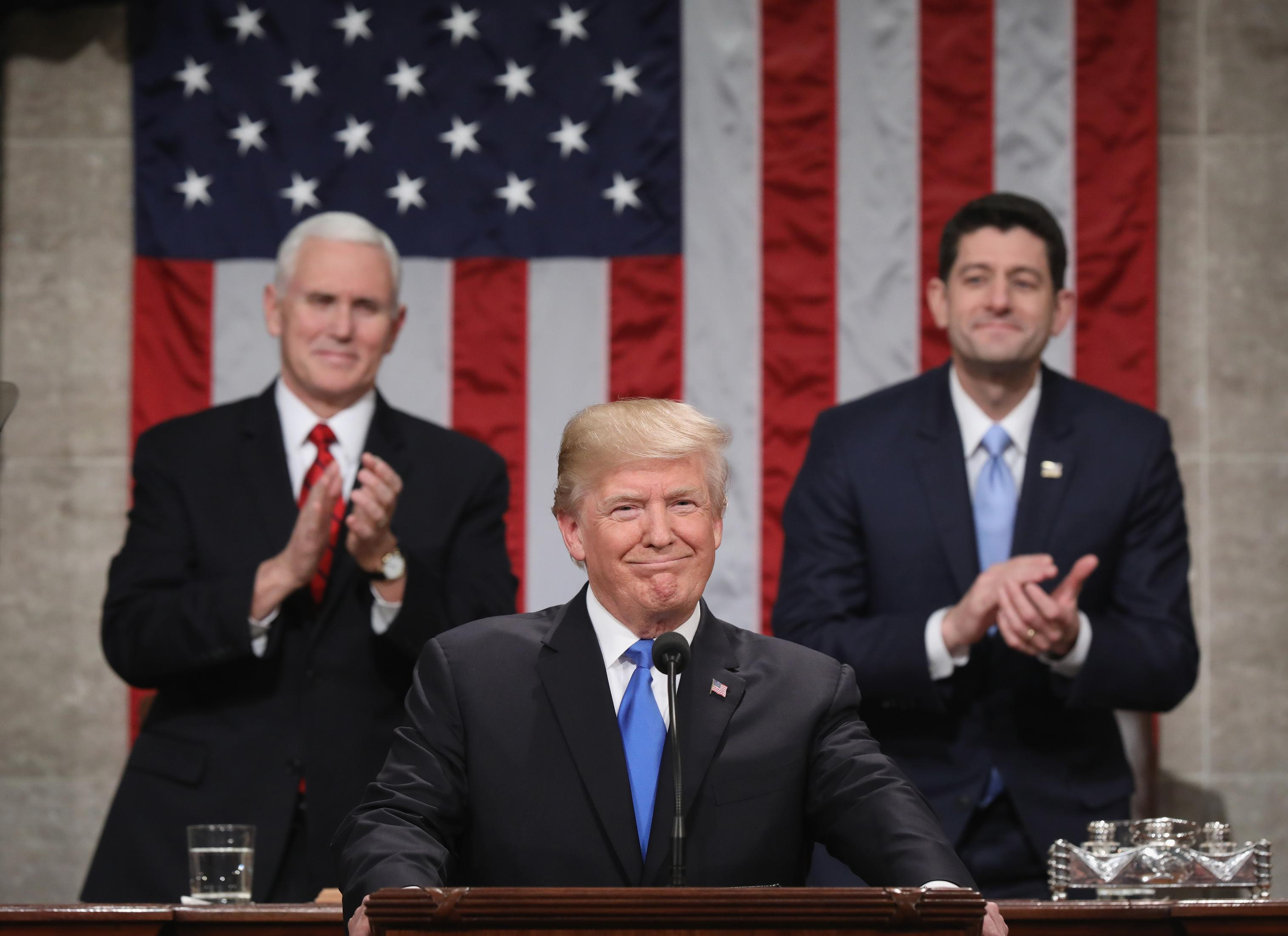 Trumps State Of The Union Speech In 2 Minutes Cnn Video