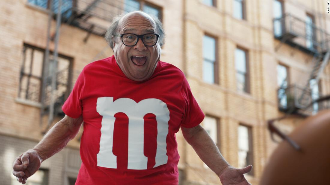 "Danny DeVito stars in <a href=""https://www.youtube.com/watch?v=qfZcxeqa1g4"" target=""_blank"">an M&M's ad</a> that will be running during the Super Bowl on Sunday. Check out some of the other commercials that are lined up for the big game. <a href=""http://money.cnn.com/2018/02/01/news/companies/super-bowl-commercials/index.html"" target=""_blank"">Read more: Why Super Bowl ads matter</a>"