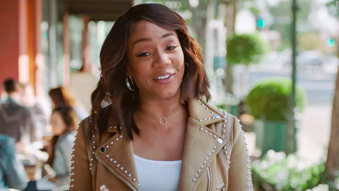 "<a href=""https://www.youtube.com/watch?v=GM1QDBvzm1Y"" target=""_blank"">Tiffany Haddish stars in Groupon's ad</a>"