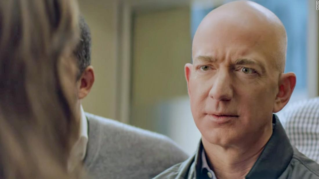 "<a href=""https://www.youtube.com/watch?v=YLPNjaAOrBw"" target=""_blank"">Jeff Bezos makes an appearance in Amazon's ad</a>"