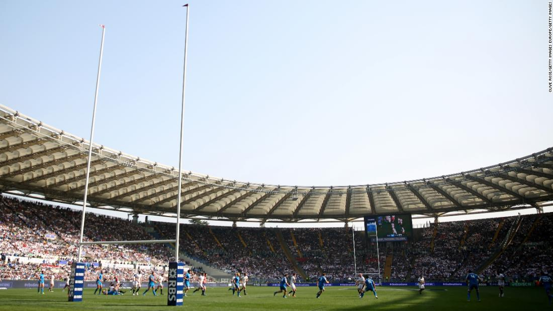 The 73,000-seat Stadio Olimpico in Rome is also home to football teams Lazio and AS Roma.