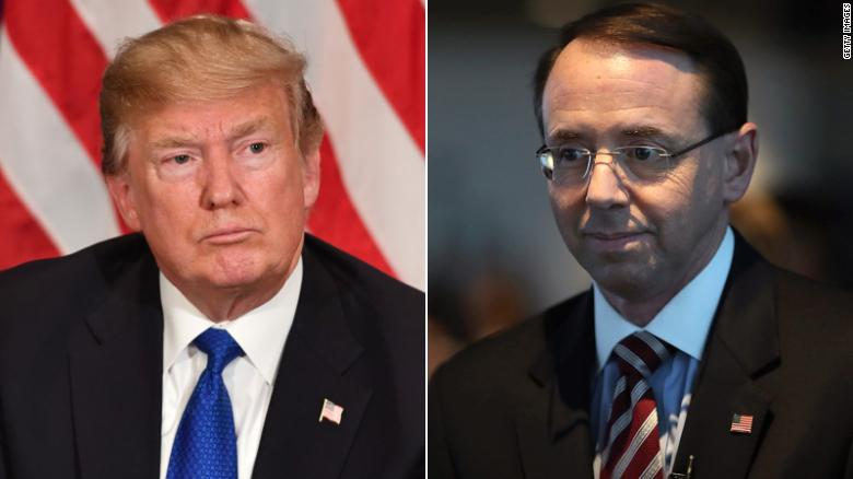 White House seeks to undermine Rosenstein