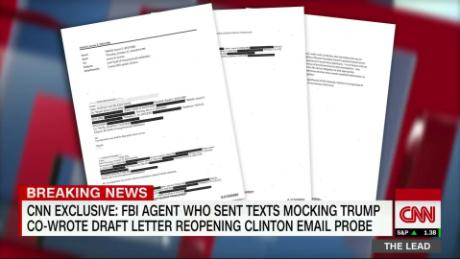 lead FBI agent texts comey live jake tapper_00025627.jpg